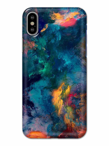 Color Storm iPhone X Mobile Cover Case - MADANYU