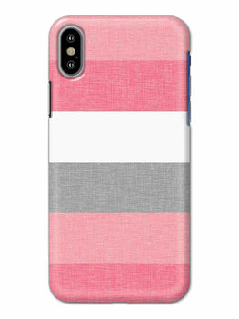 Pink White Stripes iPhone X Mobile Cover Case - MADANYU