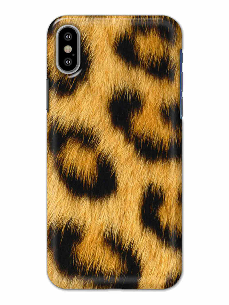 Leopard Print iPhone X Mobile Cover Case - MADANYU