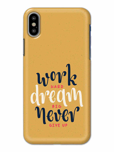 Never Give Up Motivational Inspirational Quote iPhone X Mobile Cover Case - MADANYU