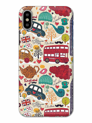 London Travel Art For Travelling Lovers iPhone X Mobile Cover Case - MADANYU