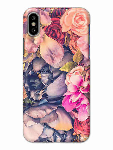 Flowers Blomming Roses Everywhere  iPhone X Mobile Cover Case - MADANYU