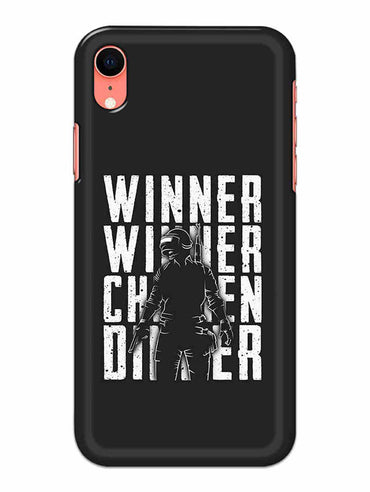 Chicken Dinner For Winner Typography Art iPhone XR Mobile Cover Case - MADANYU