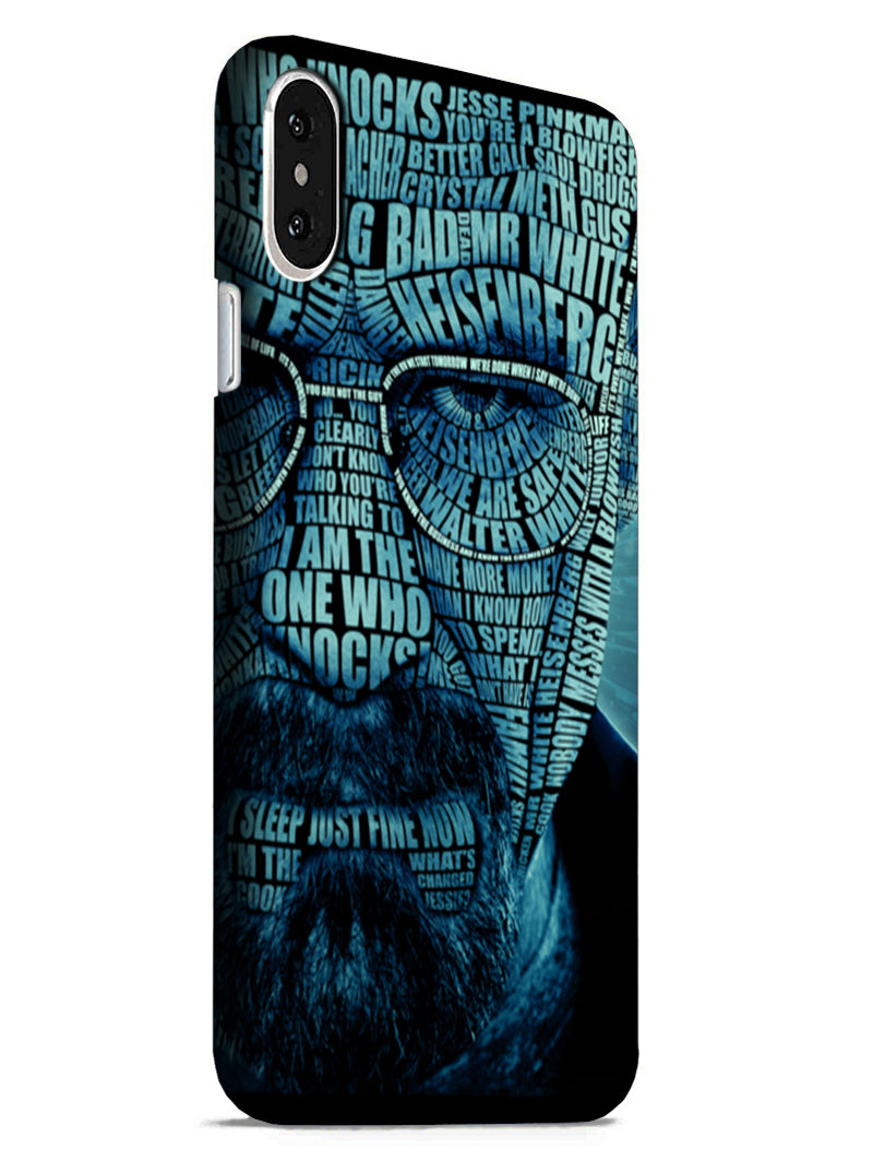 Heisenberg Typography iPhone X Mobile Cover Case