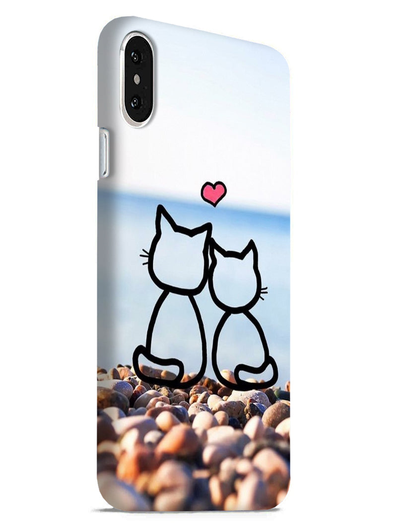 Cat Couple iPhone X Mobile Cover Case
