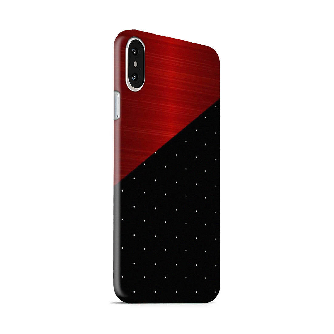 Polka Dots On Wood iPhone X Mobile Cover Case - MADANYU