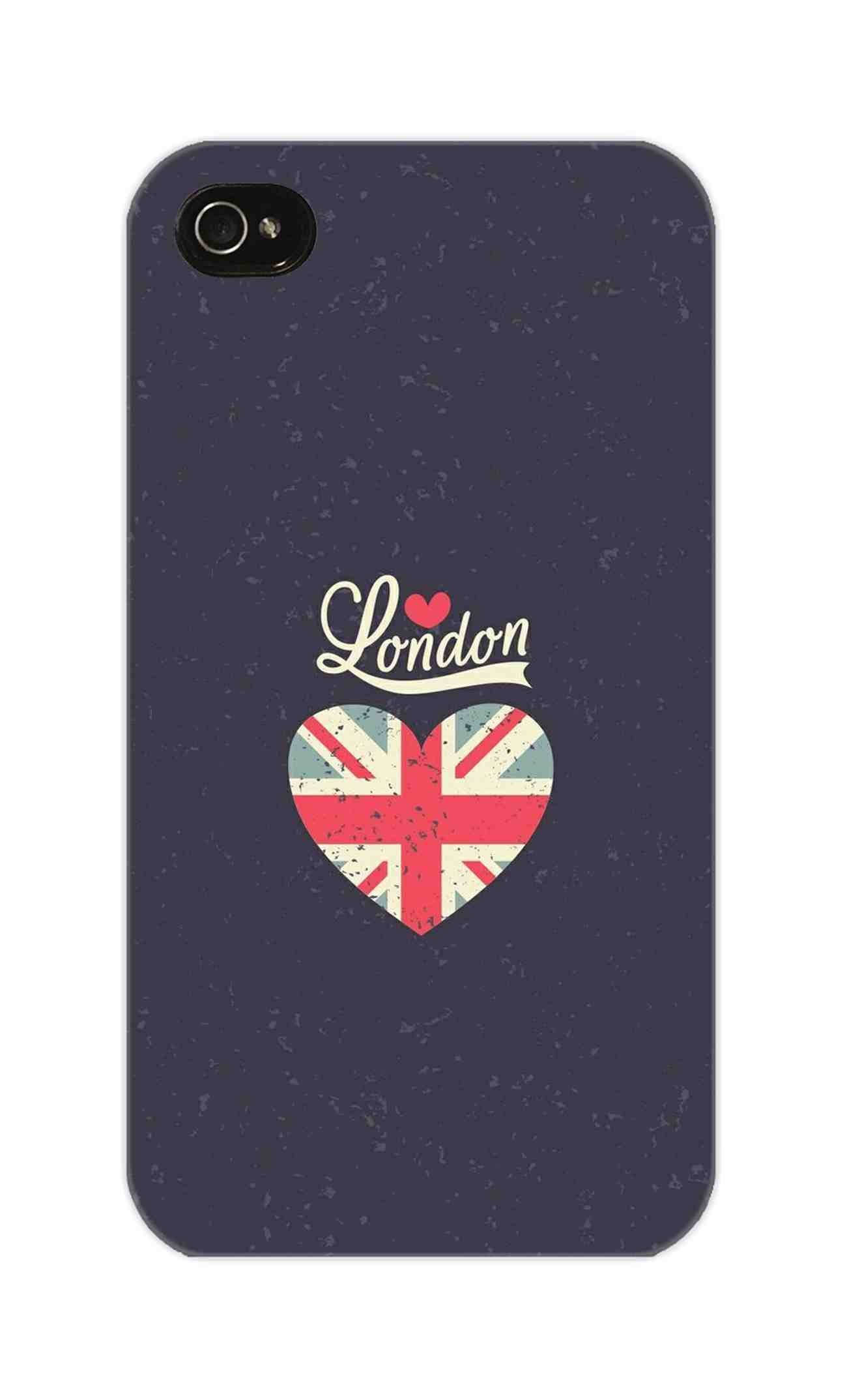 I Love London Typography Art For Artist iPhone 4 Mobile Cover Case - MADANYU