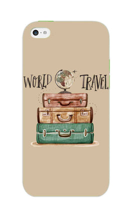 Travel World With Bags For Travellers iPhone 5S Mobile Cover Case