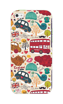 London Travel Art For Travelling Lovers iPhone 5S Mobile Cover Case