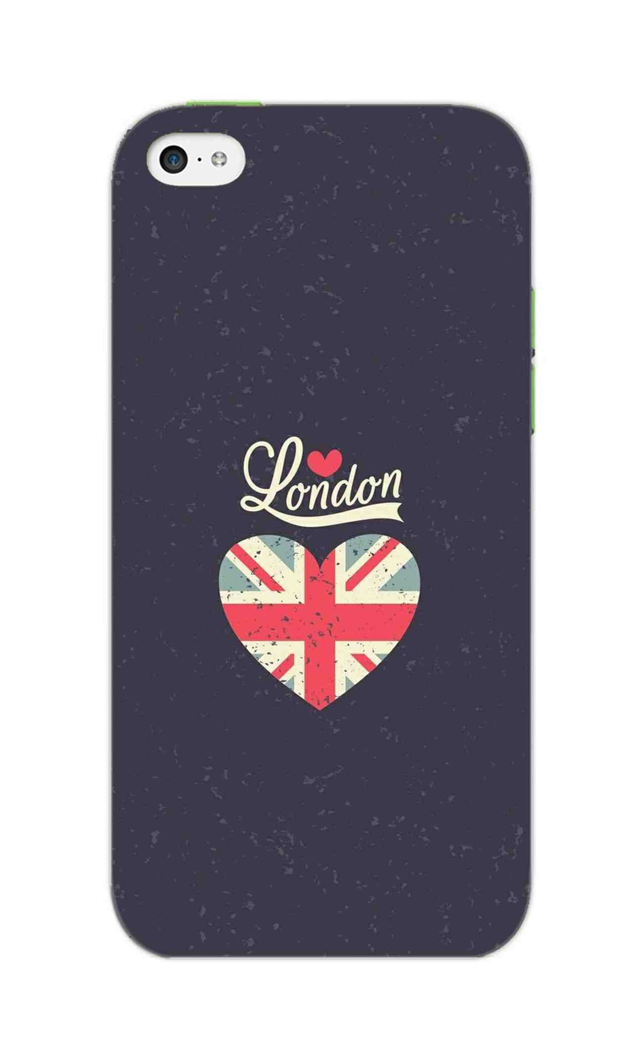 I Love London Typography Art For Artist iPhone 5S Mobile Cover Case - MADANYU