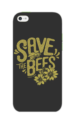 Save The Bees Motivation Quote iPhone 5S Mobile Cover Case