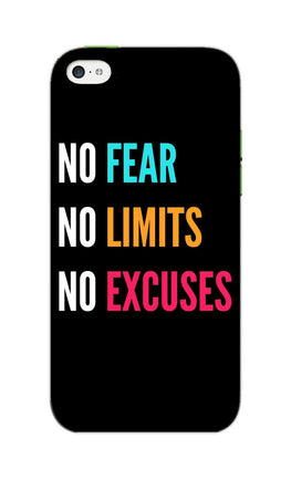 No Fear No Limits No Excuses Motivation Quote iPhone 5S Mobile Cover Case