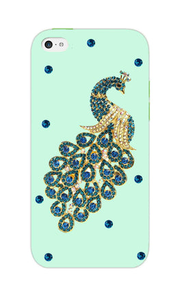Beautiful Peacock Stone Art  iPhone 5S Mobile Cover Case