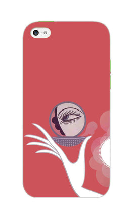 Mirror On Hand Art So Girly Pattern iPhone 5S Mobile Cover Case