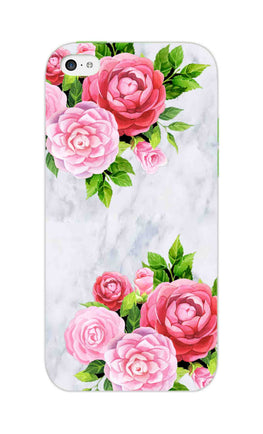 Pink Roses Floral Marble So Girly iPhone 5S Mobile Cover Case