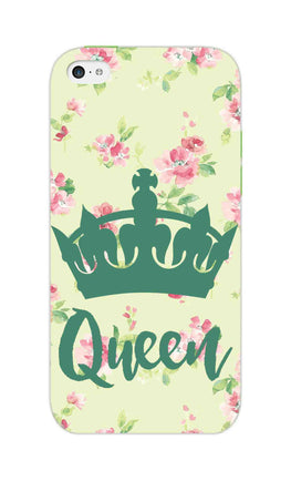 Floral Queen Pattern So Girly iPhone 5S Mobile Cover Case