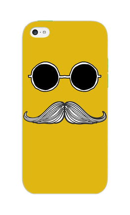 Cool Shady Moustache Yellow iPhone 5S Mobile Cover Case