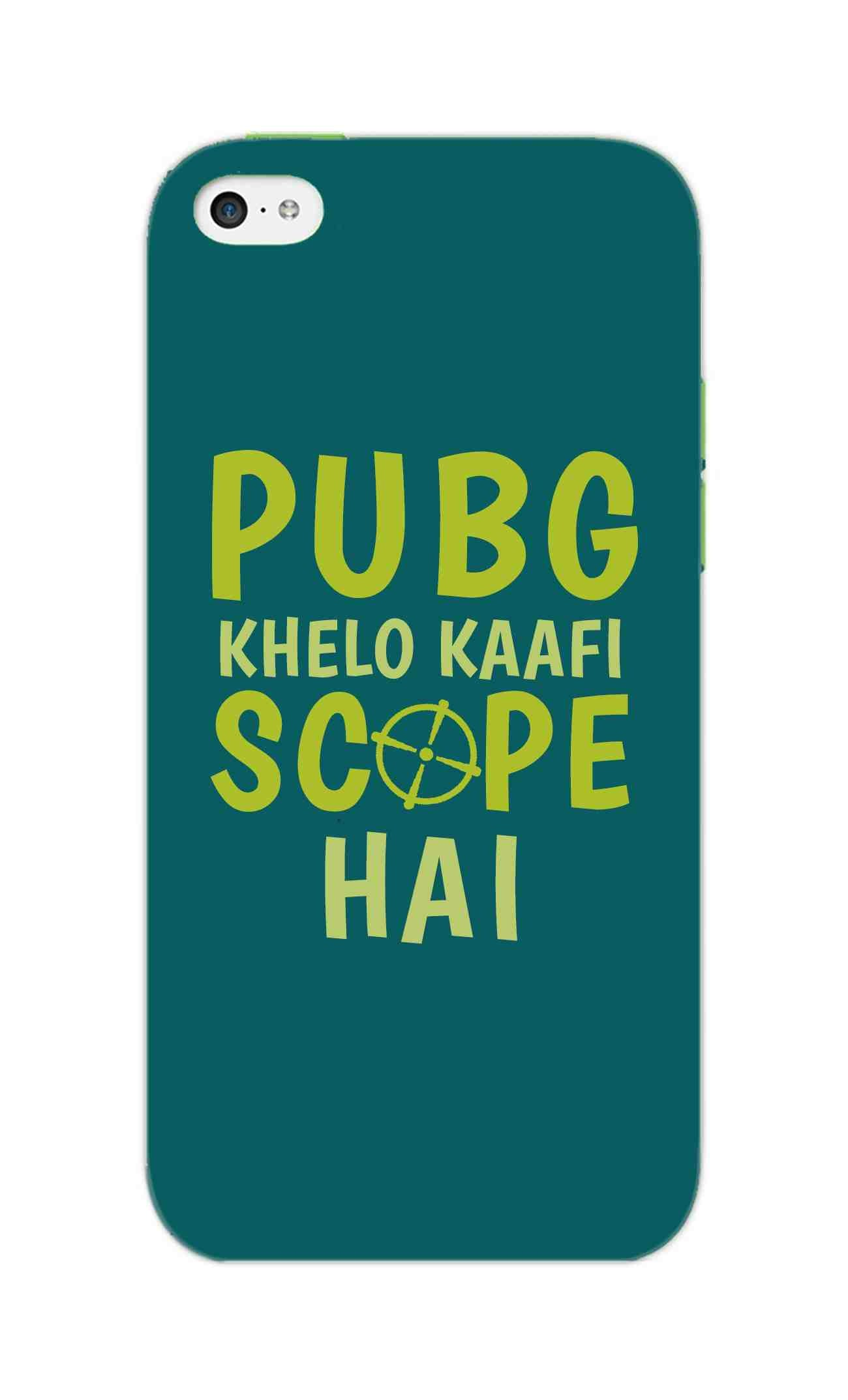 Pubg Khelo Kaafi Scope Hai Game Lovers iPhone 5S Mobile Cover Case