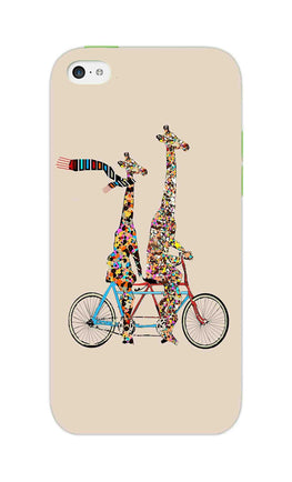 Giraffe Cycling Enjoy Life Funny For Animal Lovers iPhone 5S Mobile Cover Case