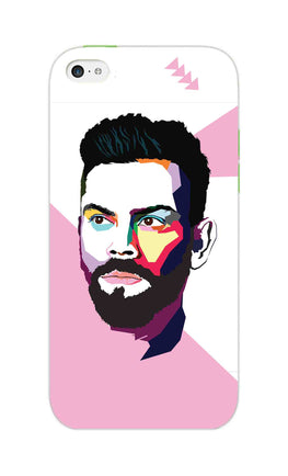 Virat Koli Art For Kohli Cricket Lovers iPhone 5S Mobile Cover Case