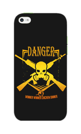 Danger Gun Sign Typography iPhone 5S Mobile Cover Case