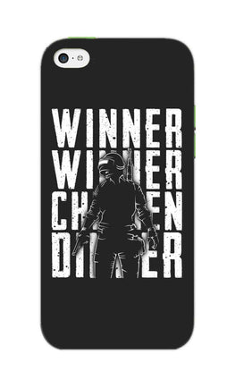 Chicken Dinner For Winner Typography Art iPhone 5S Mobile Cover Case