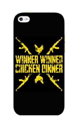 Gun And Chicken For Winner Typography Art iPhone 5S Mobile Cover Case
