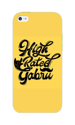 High Rated Gabru Song Typography iPhone 5S Mobile Cover Case