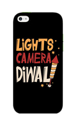 Lights Camera Diwali Enjoy Festival Of Light iPhone 5S Mobile Cover Case