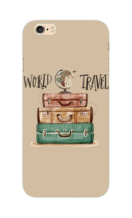 Travel World With Bags For Travellers iPhone 6S Mobile Cover Case