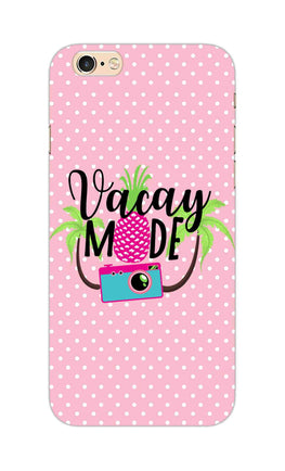 Vacay Mode With Cute White Dots Typography iPhone 6S Mobile Cover Case