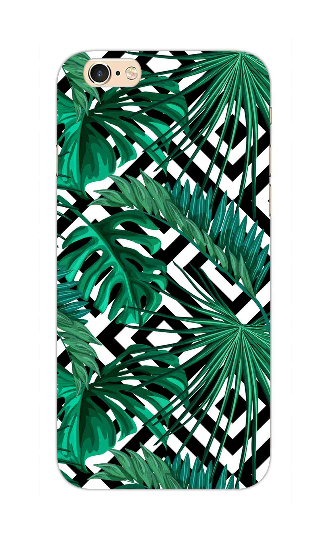 Tropical Leaves With Diamond Pattern iPhone 6S Mobile Cover Case - MADANYU