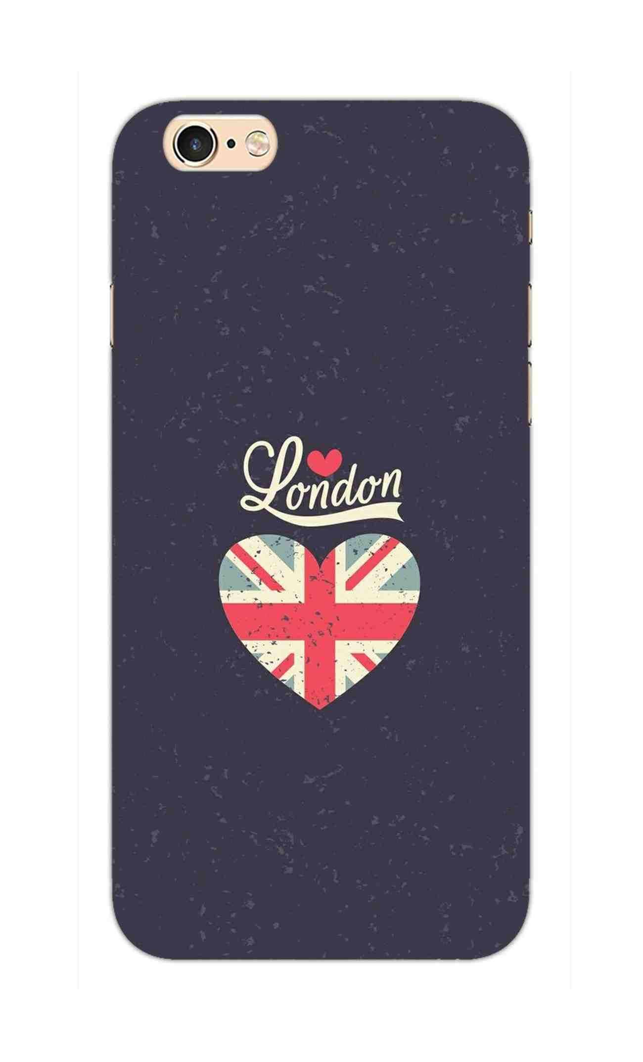I Love London Typography Art For Artist iPhone 6S Mobile Cover Case - MADANYU
