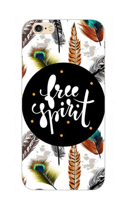 Free Spirit Colorful Feathers Pattern iPhone 6S Mobile Cover Case