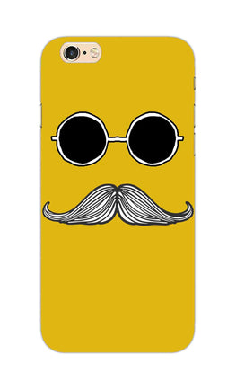 Cool Shady Moustache Yellow iPhone 6S Mobile Cover Case