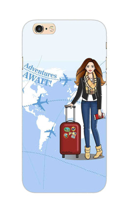 Girl Travel Adventure Await iPhone 6S Plus Mobile Cover Case
