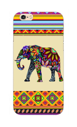 Colorful Elephant Azetec Pattern  iPhone 6S Plus Mobile Cover Case