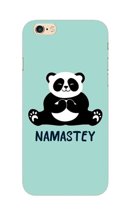 Cute Panda Seying Namastey For Animal Lovers iPhone 6S Plus Mobile Cover Case