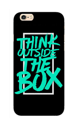 Think Outside The Box Motivation Quote iPhone 6S Plus Mobile Cover Case