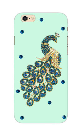 Beautiful Peacock Stone Art  iPhone 6S Plus Mobile Cover Case