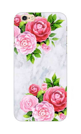 Pink Roses Floral Marble So Girly iPhone 6S Plus Mobile Cover Case