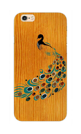 Peacock On Wood So Girly Pattern iPhone 6S Plus Mobile Cover Case