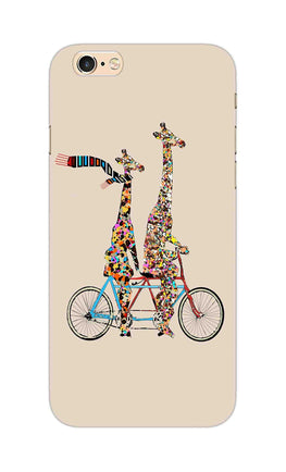 Giraffe Cycling Enjoy Life Funny For Animal Lovers iPhone 6S Plus Mobile Cover Case