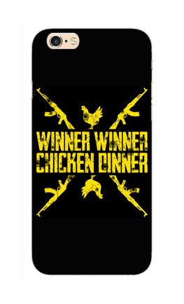 Gun And Chicken For Winner Typography Art iPhone 6S Plus Mobile Cover Case