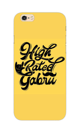 High Rated Gabru Song Typography iPhone 6S Plus Mobile Cover Case
