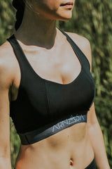 Half Moon Reversible Bra - Black and Slate