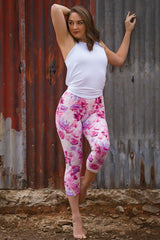 Elemental Leggings 3/4 - Summer Rose