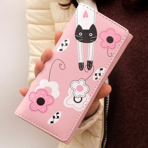Cute Cat Wallet Long