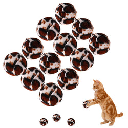 12 pcs Leopard Ball Cat Toy