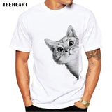 Sneaky Cat Men T Shirt